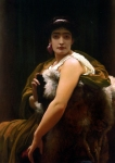 "Lord Frederick Leighton (1830-1896) Twixt Hope and Fear Oil On Canvas 112 x 84 cm (3\' 8.09"" x 33.07\"") Private collection"