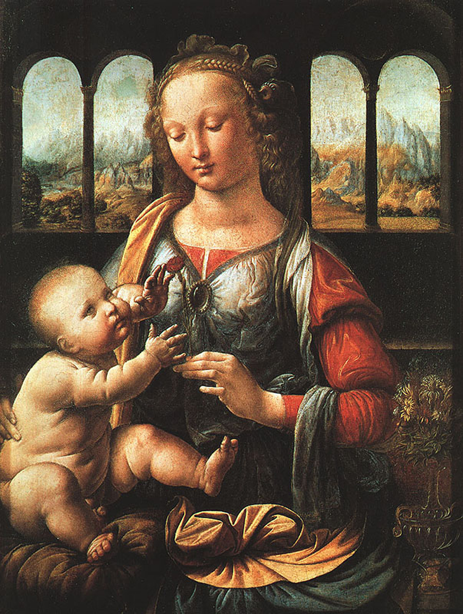 Leonardo di ser Piero da Vinci (1452 - 1519) The Madonna of the Carnation