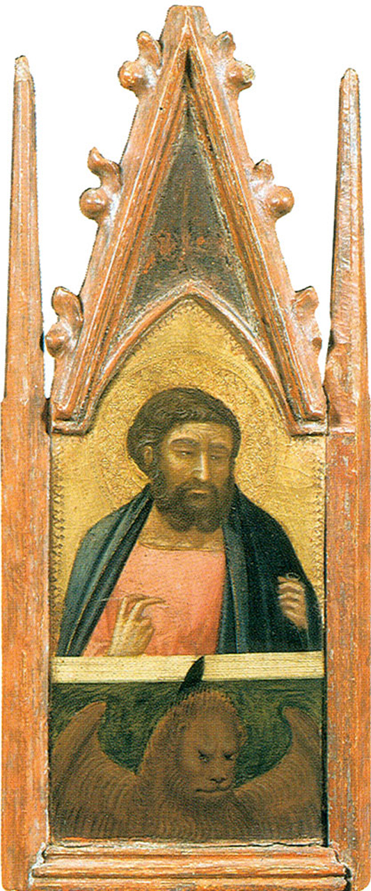 Pietro Lorenzetti (c. 1280 - 1348)  Saint Mark the Evangelist  Gold and tempera on panel, 1316  Galleria degli Uffizi, Florence, Italy