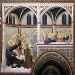 Pietro Lorenzetti (c. 1280 - 1348)  The Washing of the Feet  c. 1320  Fresco  Lower Church, San Francesco, Assisi, Italy