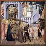 Pietro Lorenzetti (c. 1280 - 1348)  he Road to Calvary  c. 1320  Fresco  Lower Church, San Francesco, Assisi, Italy