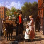 Jacques-Laurent Agasse (1767-1849)  The Flower Seller  Oil on canvas, 1822  Oskar Reinhart Foundation, Winterthur
