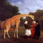 Jacques-Laurent Agasse (1767-1849)  The Nubian Giraffe  Oil on canvas, 1827  The Royal Collection of Her Majesty Queen Elizabeth II