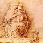 Andrea Mantegna (Isola di Cartura, about 1430/31 - Mantua, 1506)  Madonna and Child  Drawing  Public collection