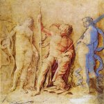 Andrea Mantegna (Isola di Cartura, about 1430/31 - Mantua, 1506)  Mars, Venus and Diana  Drawing  Public collection