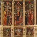Andrea Mantegna (Isola di Cartura, about 1430/31 - Mantua, 1506)  Altarpiece  Oil on panel, 1457-1460  188 7/8 x 177 1/8 inches (480 x 450 cm)  San Zeno, Verona, Italy