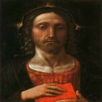 Andrea Mantegna (Isola di Cartura, about 1430/31 - Mantua, 1506)  Christ the Redeemer  Tempera on wood  Private collection
