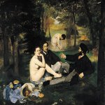 &#201;douard Manet (1832  1883)  The Lunch on the Grass (Le d&#233;jeuner sur l'herbe )  Oil on canvas, 18621863  208 cm &#215; 265.5 cm (81.9 in &#215; 104.5 in)  Mus&#233;e d'Orsay, Paris, France