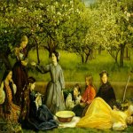 John Everett Millais (8 June 1829 � 13 August 1896)  Apple Blossoms (Spring)  Oil on canvas, 	1856-1859  172.7 x 110.5 cm (5' 7.99
