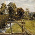 John Everett Millais (8 June 1829 � 13 August 1896)  View Near Hampstead  Oil on panel  33 x 21 cm (12.99