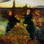 John Everett Millais (8 June 1829 – 13 August 1896)  Autumn Leaves  Oil on canvas, 1855-1856  73.7 x 104.1 cm (29.02