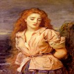 John Everett Millais (8 June 1829 – 13 August 1896)  The Matyr of the Solway  Oil on canvas, 1871  56.5 x 60.3 cm  (22.24