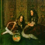 John Everett Millais (8 June 1829  13 August 1896)  Leisure Hours  Oil on canvas, 1864  Private collection