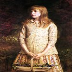John Everett Millais (8 June 1829 – 13 August 1896)  Sweetest eyes were ever seen  Oil on canvas  Private collection