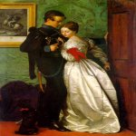 John Everett Millais (8 June 1829 – 13 August 1896)  The Black Brunswicker  Oil on canvas, 1860  104 cm × 68.5 cm (41 in × 27.0 in)  Lady Lever Art Gallery, Merseyside, United Kingdom