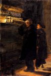 John Everett Millais (1829-1896)  Greenwich Pensioners At The Tomb Of Nelson  Oil on board  22.8 x 33 cm  (8.98