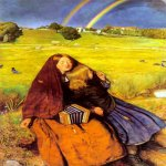 John Everett Millais (8 June 1829 – 13 August 1896)  The Blind Girl  Oil on canvas, 1854-1856  62.2 x 82.6 cm (24.49