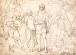 John Everett Millais (1829-1896)  Cymon And Iphigenia, 1847  Pen and ink  35.5 x 25.5 cm (13.98