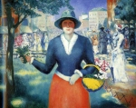 Kazimir Malevich (18781935) Flowergirl Oil on canvas, 1903 80 &amp;#215; 100 cm (31.5 &amp;#215; 39.4 in) The Russian Museum, St. Petersburg, Russia