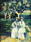 Kazimir Malevich (1878–1935) Two Women in a Garden Oil on canvas 28 x 21.5 cm The Russian Museum, St. Petersburg, Russia