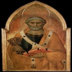 Lippo Memmi (born in Siena, active by 1317, died 1356 in Siena)  St Peter  Panel, c. 1330  Musee du Louvre, Paris, France