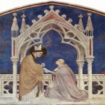 Simone Martini (Siena, 1284 - Avignon, 1344)  Szene: Dedication of the chapel to St. Martin by the Cardinal Gentile da Montefiore  Fresco, 1322-1326  Chapel in Lower Church of San Francesco in Assisi, Italy