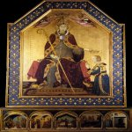 Simone Martini (Siena, 1284 - Avignon, 1344)  Scenes  the life of the Saint Louis  Tempera on panel, c. 1317  200 × 138 cm  Galleria Nazionale di Capodimonte, Neapel, Italy