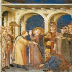 Martini, Simone (Siena, 1284 - Avignon, 1344)  Knighting of Saint Martin  Fresco, about 1317  Cappella di San Martino, San Francesco, Assisi,Italy