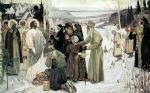Mikhail Vasilyevich Nesterov (1862-1942)  Holy Russia Oil on canvas, 1905 233х375 cm The Russian Museum, St. Petersburg, Russia
