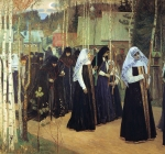 Mikhail Vasilyevich Nesterov (1862-1942)  Taking the Veil  Oil on canvas, 1897-1898 The Russian Museum, St. Petersburg, Russia