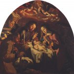 Josefa de &#211;bidos (1630  1684)  Adoration of the Shepherds  Oil on canvas, 1669  150 x 184 cm  National Museum of Art Aantiga, Lisbon, Portugal
