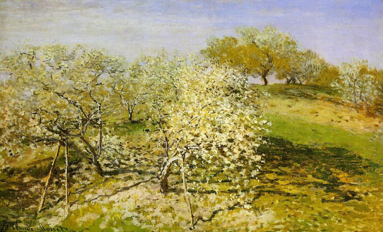 Symbolism Trees Claude Monet 1840 1926 Apple Trees In Bloom Oil On