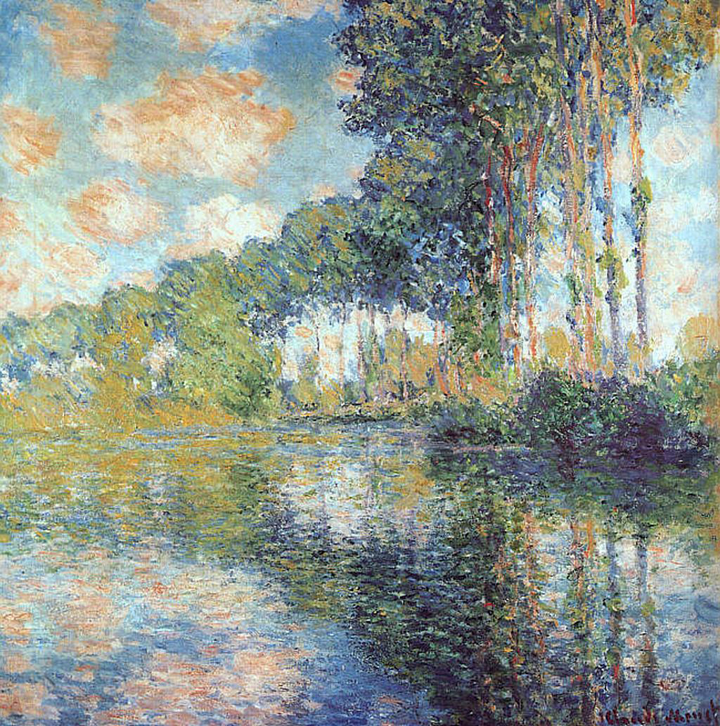 claude monet 1840 1926 poplars on the epte oil on canvas. Black Bedroom Furniture Sets. Home Design Ideas