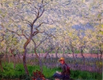 Claude Monet (1840-1926) An Orchard in Spring Oil on canvas 1886