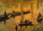 Claude Monet (1840-1926) Anglers on the Seine at Poissy Oil on canvas 1882