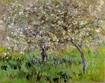 Claude Monet (1840�1926) Apple Trees in Bloom at Giverny Oil on canvas, 	1900-1901