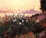 Claude Monet (1840�1926) Argenteuil, Flowers by the Riverbank Oil on canvas, 1877