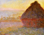 Claude Monet (1840–1926) Haystacks, (Sunset) Oil on canvas, 1890-1891 Museum of Fine Arts, Boston, United States