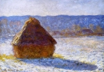 Claude Monet (1840–1926) Haystack, Morning Snow Effect (Meule, Effet de Neige, le Matin) Oil on canvas,  1891 Museum of Fine Arts, Boston, United States