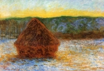 Claude Monet (1840–1926) Wheatstack (Thaw, Sunset) Oil on canvas,  1890-1891 Art Institute of Chicago