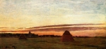 Claude Monet (1840–1926) Grainstacks at Chailly at Sunrise Oil on canvas,  1865