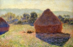 Claude Monet (1840�1926) Grainstacks in the Sunlight, Midday Oil on canvas, 	1890-1891
