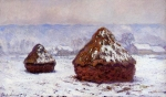 Claude Monet (1840–1926) Grainstack, White Frost Effect Oil on canvas, 	between 1890 and 1891 65 × 100 cm (25.6 × 39.4 in) National Gallery of Scotland, Edinburgh