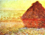 Claude Monet (1840–1926) Haystack at the Sunset near Giverny Oil on canvas, 	1891 Private collection