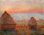 Claude Monet (1840–1926) Haystacks at Giverny the evening sun Oil on canvas, 	1888