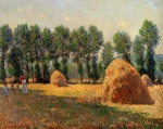 Claude Monet (1840�1926) Haystacks at Giverny  Oil on canvas, 	1885