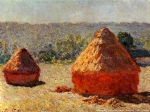 Claude Monet (1840–1926) Haystack. End of the Summer Oil on canvas, 	between 1890 and 1891 60.5 × 100.8 cm (23.8 × 39.7 in) Musée d\'Orsay, Paris