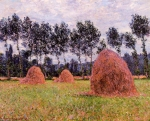 Claude Monet (1840�1926) Haystacks, Overcast Day Oil on canvas, 	1884
