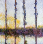 Claude Monet (1840-1926) The Four Trees, (Four Poplars on the Banks of the Epte River near Giverny) Oil on canvas 1891 The Metropolitan Museum of Art (colloquially The Met), New York, USA