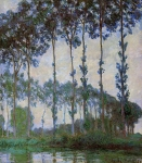 Claude Monet (1840-1926) Poplars on the Banks of the River Epte, Overcast Weather Oil on canvas 1891